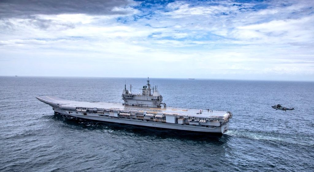 INS Vikrant launches in India